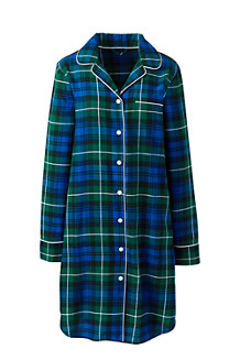 Women's Flannel Patterned Nightdress