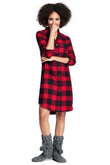 Women's Flannel Patterned Nightdress