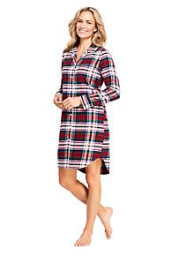 b72d365576 Women s Long Sleeve Print Flannel Nightshirt