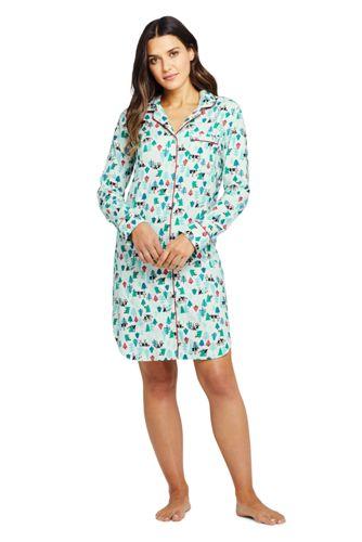 Women's Patterned Flannel Nightdress
