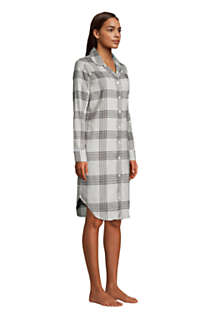 Women's Tall Long Sleeve Print Flannel Nightshirt, alternative image