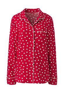 Women's Patterned Flannel Pyjama Shirt