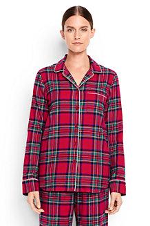 La Chemise de Pyjama en Flanelle à Motifs, Femme