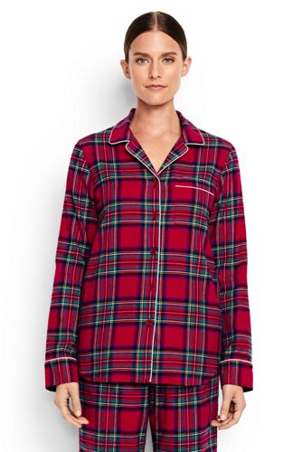 Women's Regular Patterned Flannel Pyjama Shirt