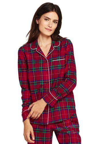 La Chemise de Pyjama en Flanelle à Motifs, Femme Stature Petite