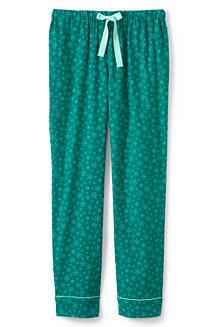 Gemusterte Flanell-Pyjamahose für Damen