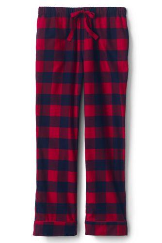 Womens Flannel Pajamas Plaid Pajamas Lands End