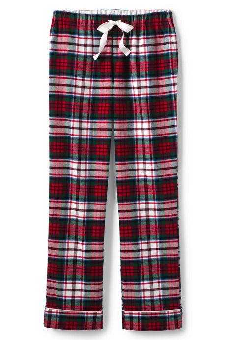 Women's Plus Size Print Flannel Pajama Pants