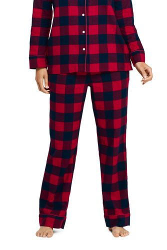 Women S Print Flannel Pajama Pants From Lands End