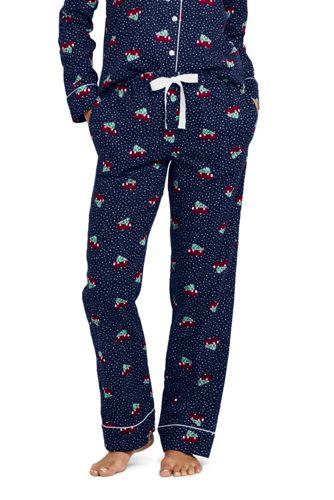 Le Pantalon de Pyjama en Flanelle à Motifs, Femme Grande Taille