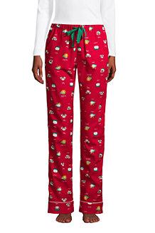 Le Pantalon de Pyjama en Flanelle à Motifs, Femme