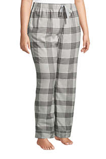 Women's Plus Size Print Flannel Pajama Pants, alternative image