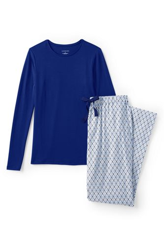 Women's Regular Jersey/Flannel Pyjama Set
