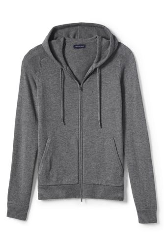 Men's Regular Merino/Cotton Sweater Hoodie
