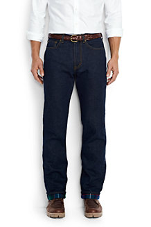 Men's Flannel-lined Regular Fit Jeans