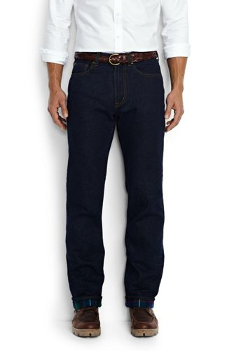 Men's Regular Flannel-lined Regular Fit Jeans