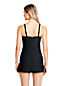 Women's D-Cup Textured Scoopneck Tankini Top