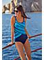 Komfort-Badeanzug mit Colorblock-Print