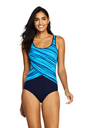 757e7f995cf Women s Tugless One Piece Swimsuit Soft Cup Print from Lands  End