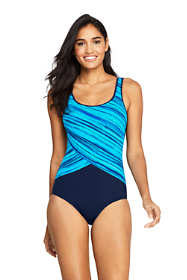 Women's Mastectomy Tugless One Piece Swimsuit Soft Cup Print