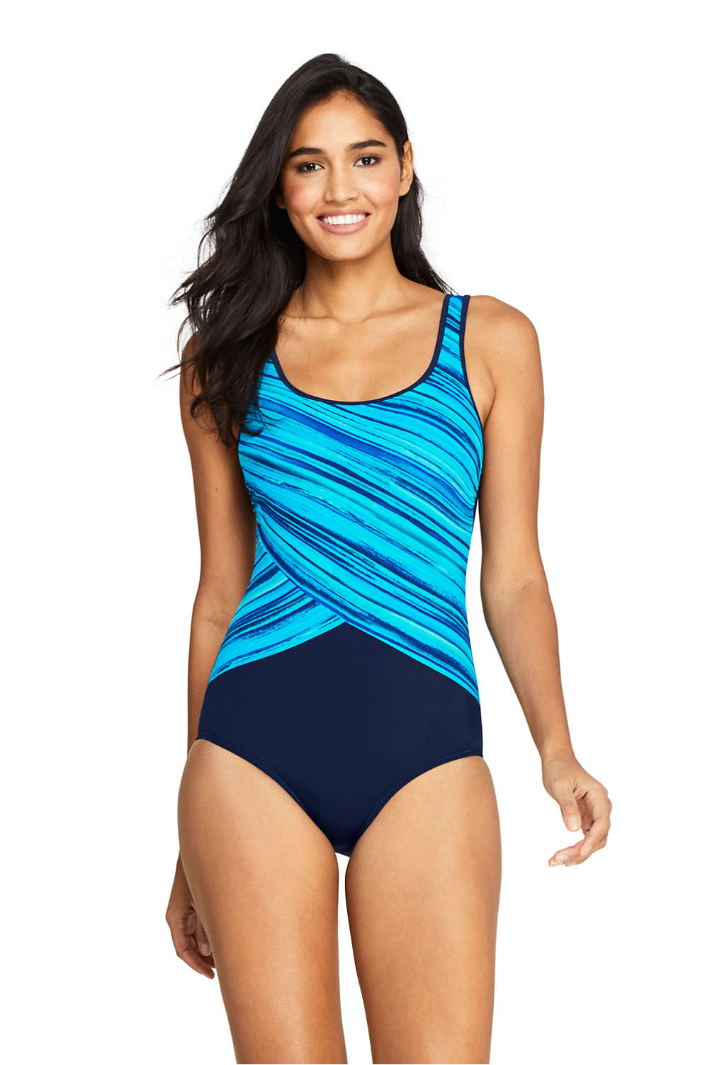3d6cd388e8b Women s Tugless One Piece Swimsuit Soft Cup from Lands  End