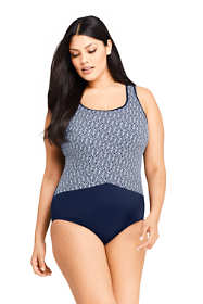 Women's Plus Size Long Tugless One Piece Swimsuit Soft Cup