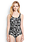 Women's Regular Tugless Soft Cup Scroll Pattern Swimsuit