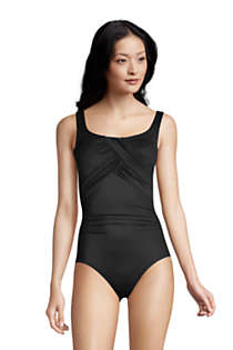 Women's D-Cup Slender Carmela Tummy Control Chlorine Resistant Scoop Neck One Piece Swimsuit, Front