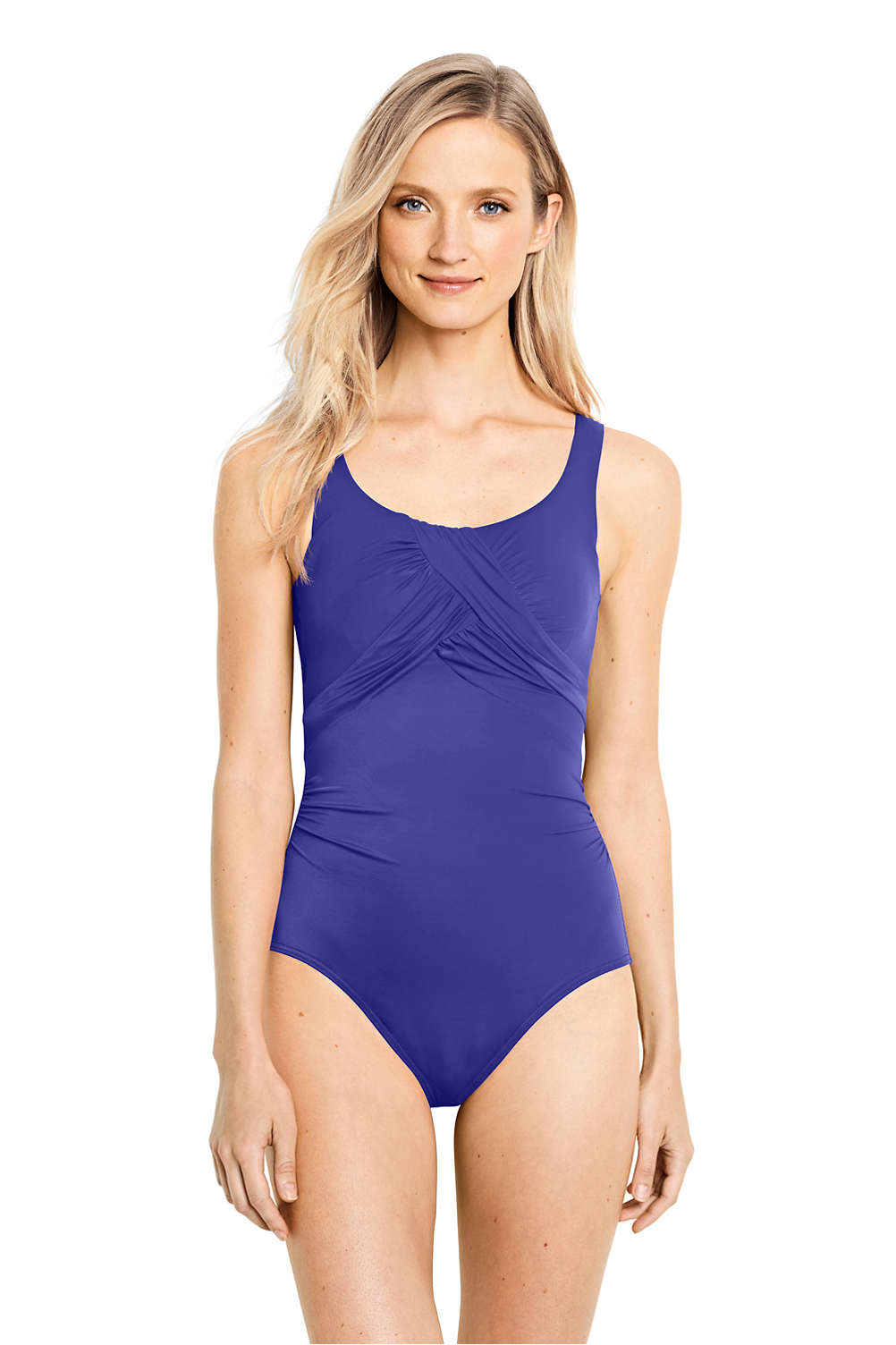 a1ef2d160a5f2 Women's Slender Carmela Underwire One Piece Swimsuit with Tummy Control  from Lands' End
