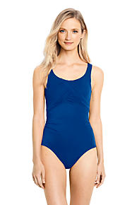 2018 New Cheap Price Womens Long Tugless Swimsuit - 14-16 - BLUE Lands End Free Shipping The Cheapest Buy Cheap 100% Original Online Cheap Online Cheap Sale 2018 New 7ccYuo