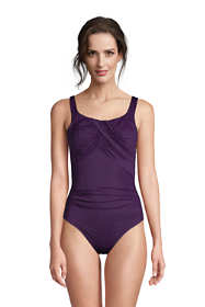 Women's Petite Slender Carmela Tummy Control Chlorine Resistant Scoop Neck One Piece Swimsuit