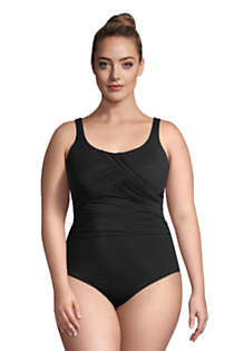 LANDS/' END Plus 22W Long Tunic Slender Tummy Control Swimsuit NWT $169