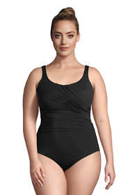 Women's Plus Size Long Slender Carmela Tummy Control Chlorine Resistant One Piece Swimsuit