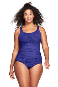 Women's Plus Size Long Slender Carmela Underwire One Piece Swimsuit with Tummy Control