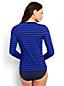 Bade-Langarmshirt mit Montego-Streifen für Damen