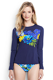 Women's Placed Italian Floral Rash Guard