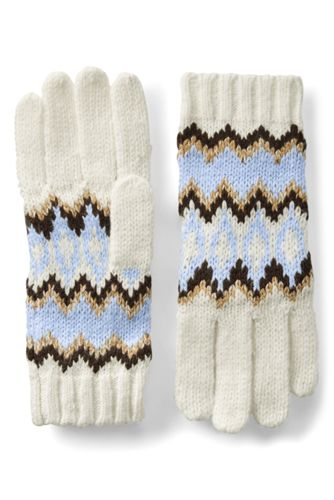 Women's Winter Fair Isle Gloves