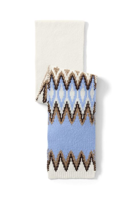 Women's Winter Fair Isle Scarf