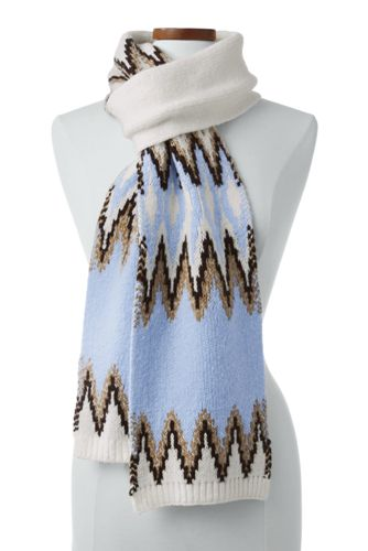Women's Winter Fair Isle Scarf from Lands' End