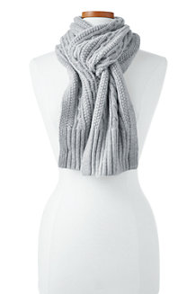 Women's Cashmere Cable Knit Scarf
