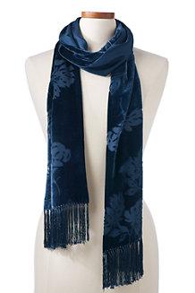 Doubleface-Schal aus Samt/Seide für Damen