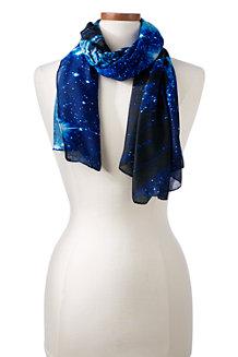Maxi-Tuch mit fotorealistischem Sternenhimmel-Print für Damen