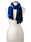 Women's Starry Night Print Scarf