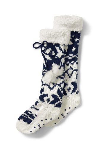 Women's Sherpa Lined Slipper Socks