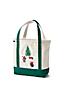 Canvas-Tasche mit Weihnachts-Stickerei für Damen