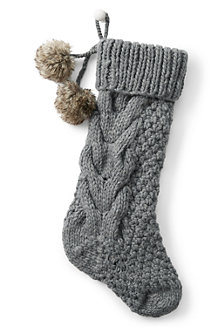 Cable Knit Christmas Stocking
