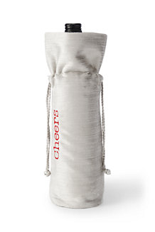 Cinched Velvet Wine Bag