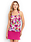 Women's Regular Beach Living Floral Bandeau Halterneck Tankini Top
