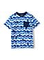 Le T-Shirt Poche Poitrine à Vagues, Garçon