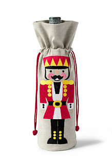Nutcracker Embroidered Wine Carrier